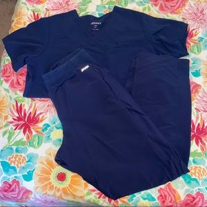 Navy Jockey Scrub Set